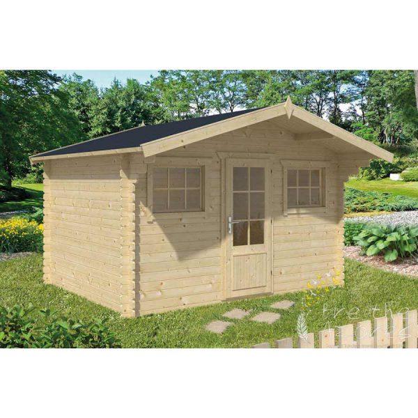 Mika Log Cabin 3 8m X 3m Plus Canopy Breathe Azores