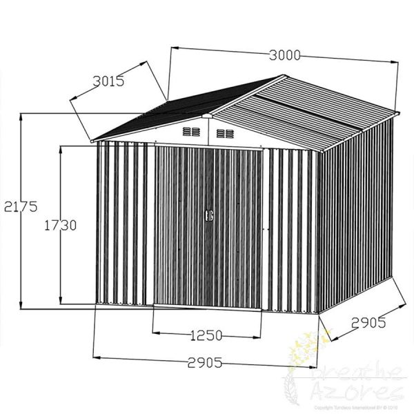 Sapphire Metal Shed High Quality Metal Storage Breathe