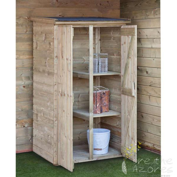 Small garden cabinet makes an ideal tool shed breathe azores for Small tool shed